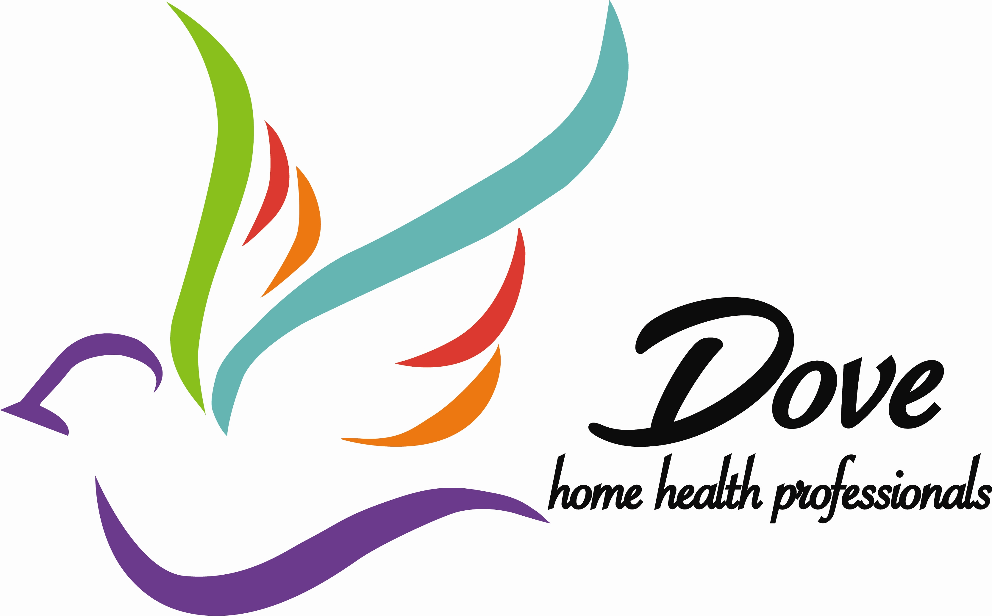 Home Health Care. Dove Logo