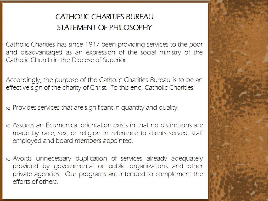 History Amp Mission Catholic Charities Bureau Inc
