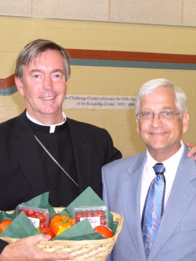 Bishop Peter with Gene Chuzles